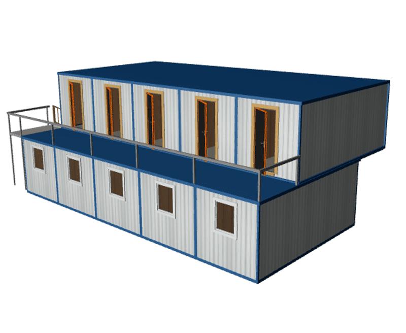 Блочно модульное здание общежитие МК-10