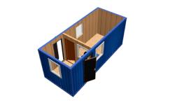 Мобильная проходная на базе блок-контейнера 6 метров