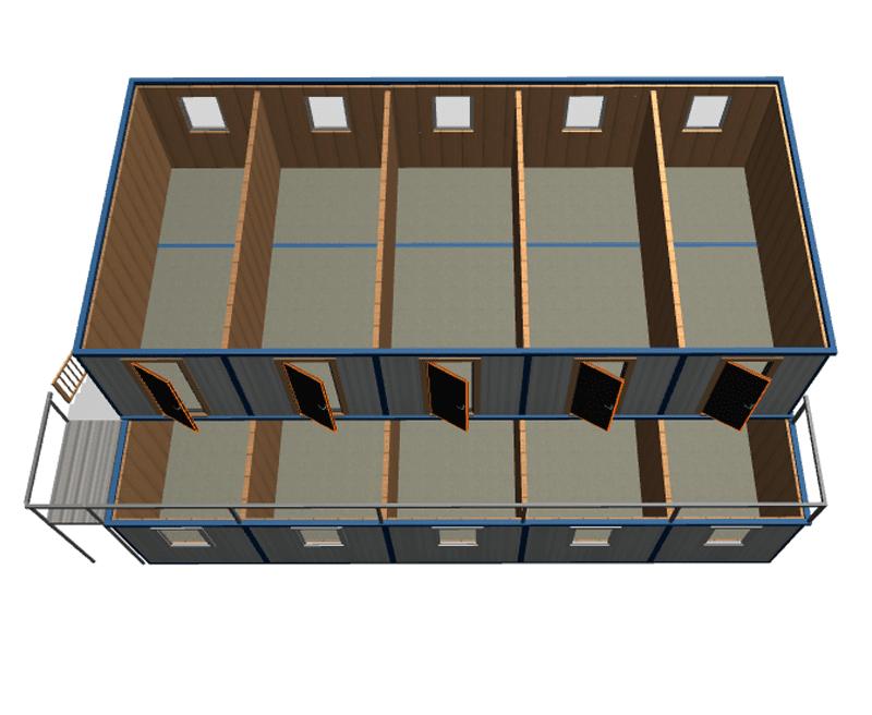 Модульное здание из блок-контейнеров МК-10