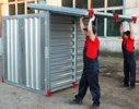 Установка крыши для сборно-разборного мобильного склада МКС-2