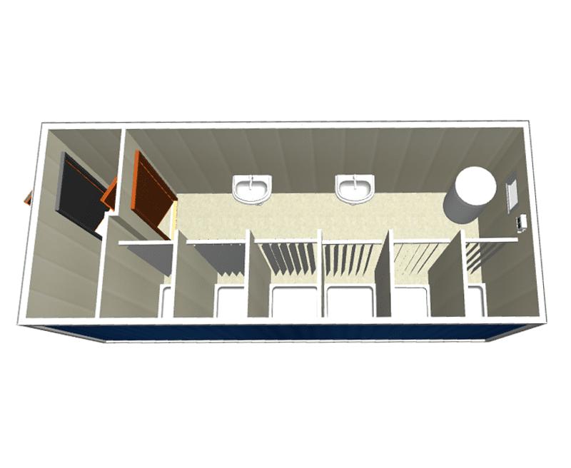 Блок-контейнер с душем СТ-47