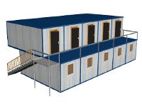 Модульное здание общежитие на 40 человек