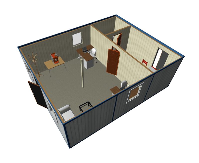 Модульное здание офис продаж ОМ-35