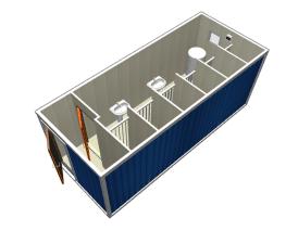 Сантехнический блок-контейнер санузел с душем СТ-47