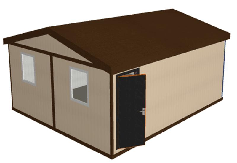 Блочно модульное здание из сэндвич панелей МК-02