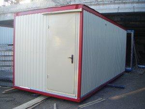 Блок-контейнер обшитый белым профлистом С8