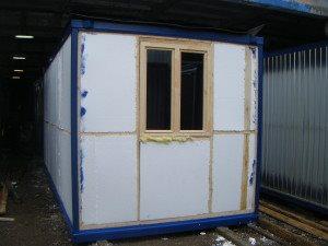 Утепленный блок-контейнер без наружной отделки