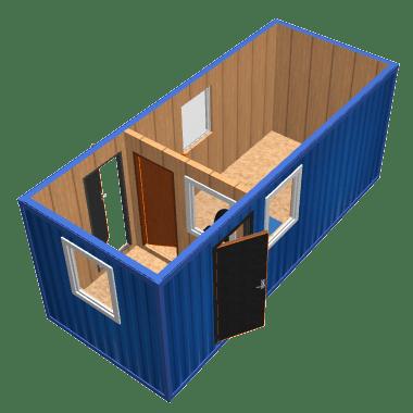 Мобильная проходная на базе блок-контейнера
