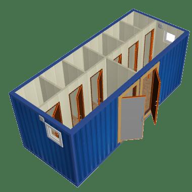 Бытовка санузел контейнерного типа