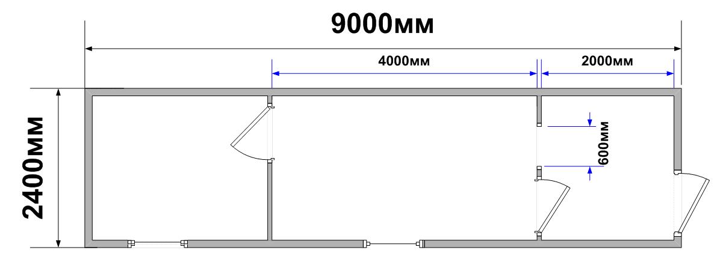 Схема планировки БК-09
