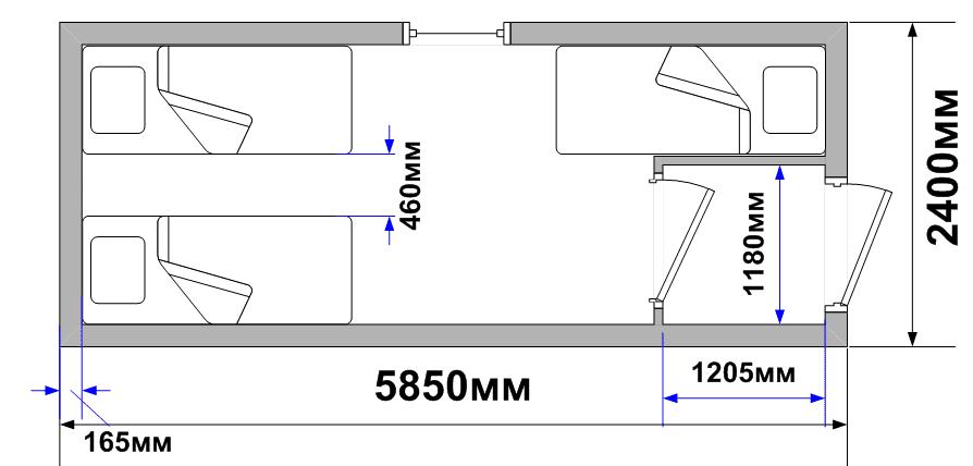 Схема планировки БК-45 север