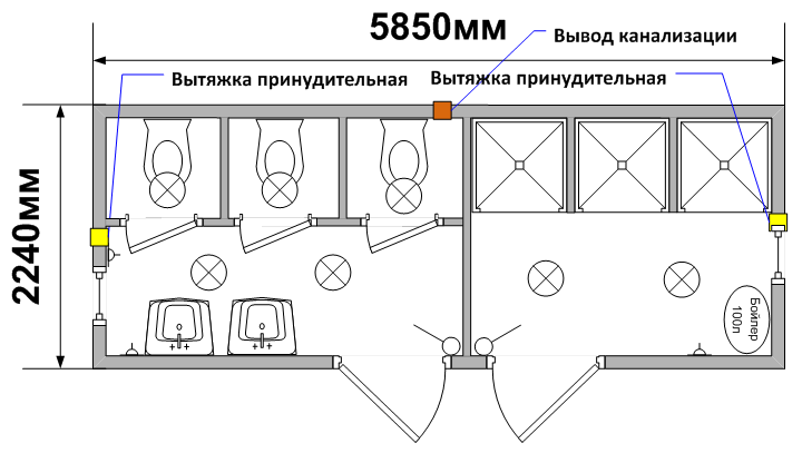 Схема планировки СТ-32