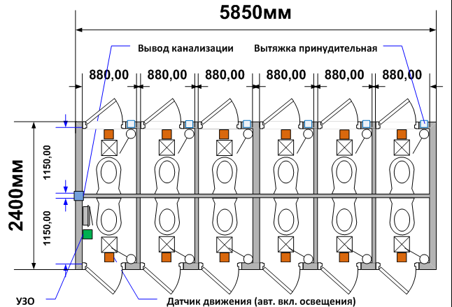 Схема планировки СТ-57