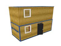b002mini - Дачная двухэтажная бытовка