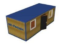 Деревянный блок-контейнер с металлокаркасом БК-04