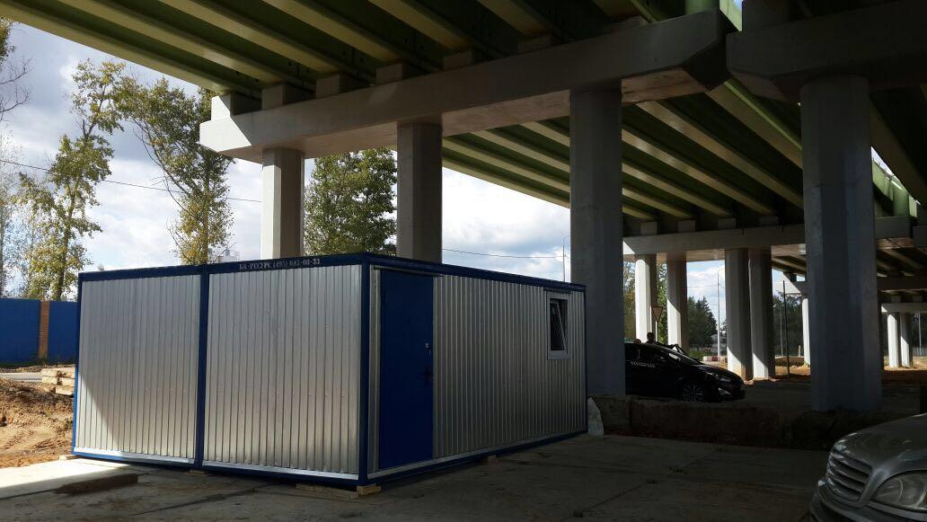 МК-02 Модульное здание из двух сдвоенных блок-контейнеров.