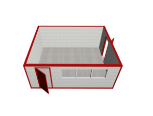 SBK 5850h4800h2400 mini 300x227 - Модульное здание МК-02 из сэндвич-панелей