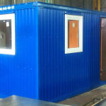 блок-контейнер проходная, КПП, с тамбуром, 4 метра